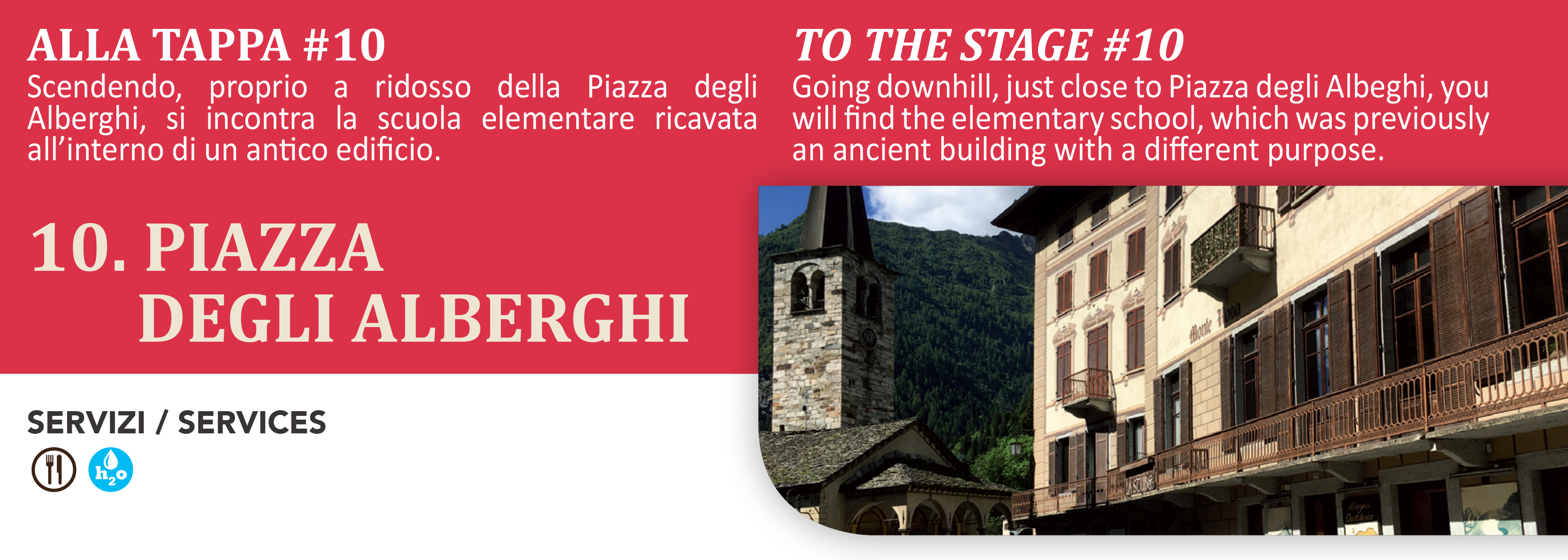 Piazza Alberghi frazione alta di Alagna Valsesia